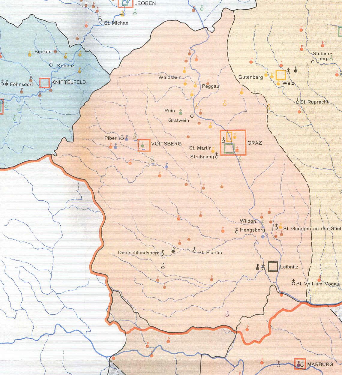 Steiermark Karte Flüsse.Marktgemeinde Wildon Geschichte Bis 1970